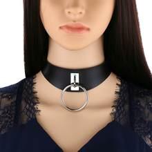 Choker gotico goth ragazze vegan collare di cuoio punk girocolli harajuku emo della collana di chocker scuro di modo di halloween accessori