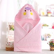 Muslin Cotton Newborn Baby Swaddle With Dot Hoodie Infant  Bath Towel Baby Multi-use Sleeping Blanket