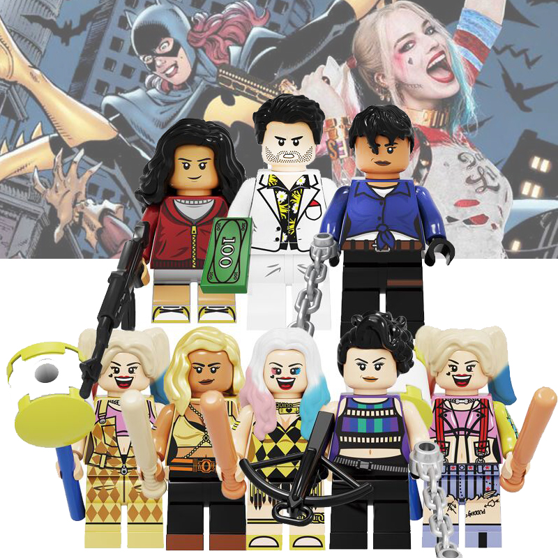Bricks Toys Harley Quinn Birds Of Prey Series Movies Figures Huntress Cassandra Cain Black Mask Question Building Blocks Toys