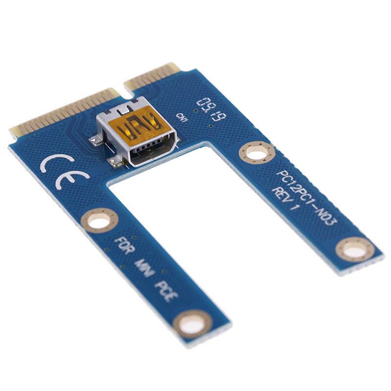 USB 3.0 Mini PCI-E para Adaptador PCIe PCI Express 1x a 16x Riser Cartão Extender Cabo de Extensão para Bitcoin BTC miner Mineração 60cm