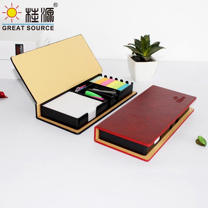 Compose  Note Memo Pad Set Color Pen Stapler Notepad Stickers Color Bookmarks 6 Colors (8set))