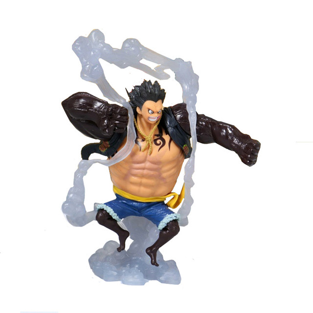 19CM Anime One Piece Figure King of Artist The Snake Man Luffy Snakeman Monkey D Luffy Gear 4 PVC Collectible Model Toy
