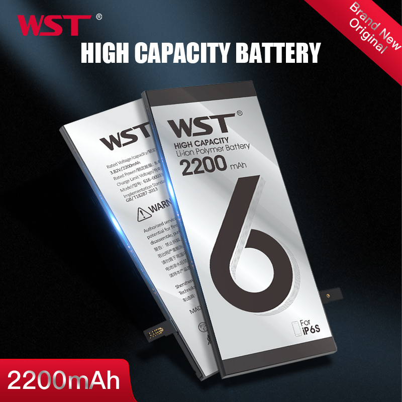 WST Original <font><b>Battery</b></font> for Apple <font><b>iPhone</b></font> <font><b>6S</b></font> High Capacity 2200mAh Replacement <font><b>Batteries</b></font> for iPhone6S With Free Tools Sticker image