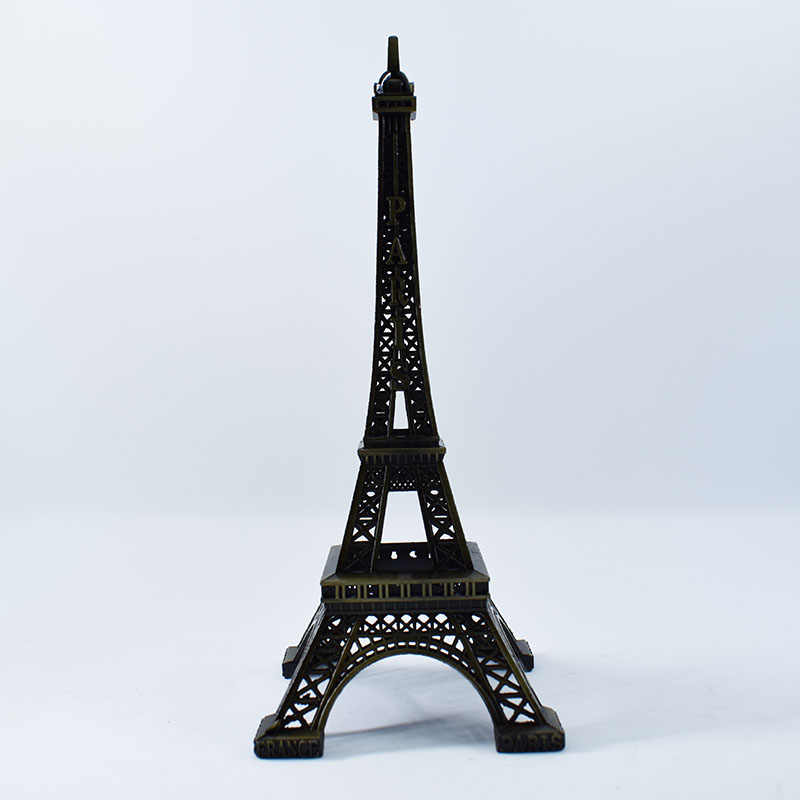 30cm Height Bronze Metal Eiffel Tower