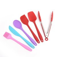 6pcs/Set Kitchen Gadgets Silicone Scrappers Cream Butter Cake Spatulas Silicone Brush Food Clip Non Stick Pastry Tool|Kitchen Gadget Sets|Home & Garden -