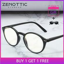 Zenottic анти синий светильник очки для мужчин круглые оптические