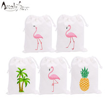 Flamingo Theme Party Favor Bags Candy Gift Bag Summer