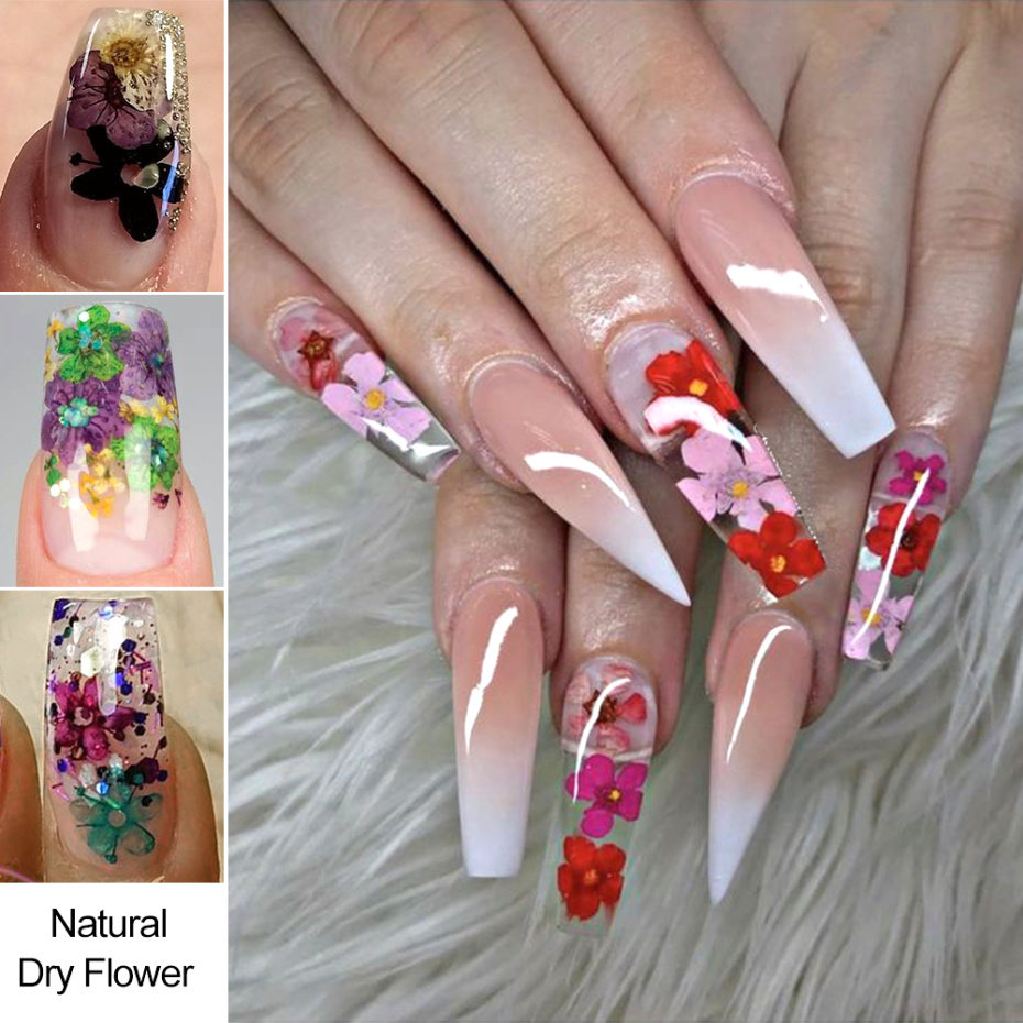 3D Dried Flower Nail Decoration 12