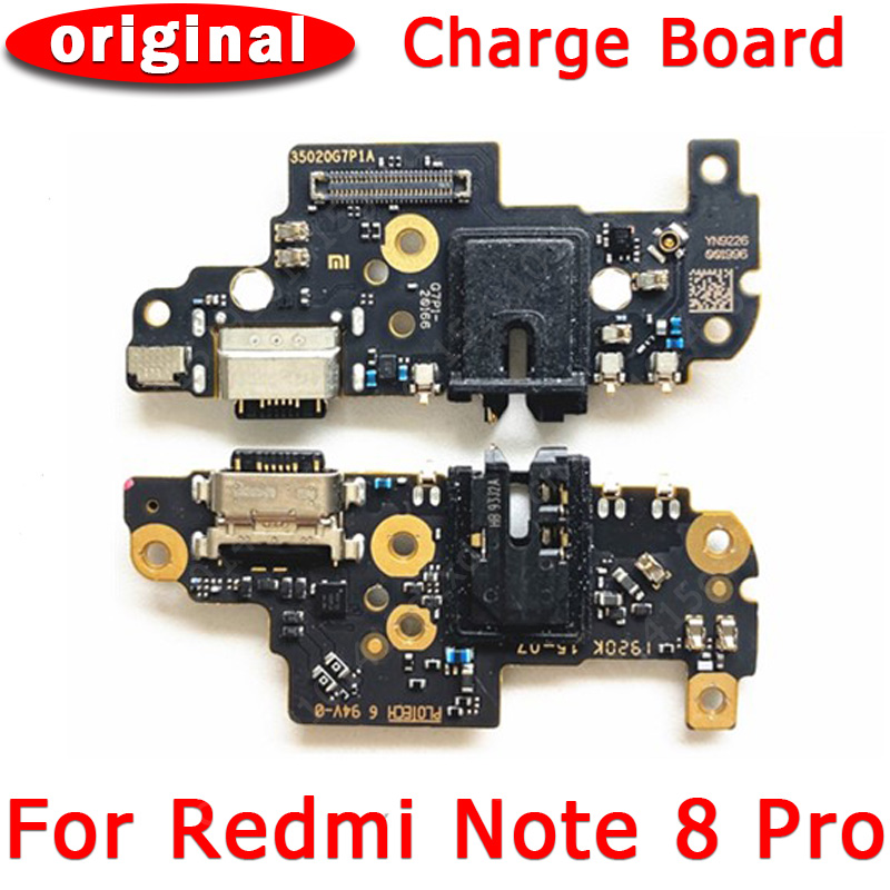 Original usb charge <font><b>board</b></font> for xiaomi redmi <font><b>note</b></font> <font><b>8</b></font> pro flex cable connector replacement parts charging port for redmi <font><b>note</b></font> <font><b>8</b></font> pro image