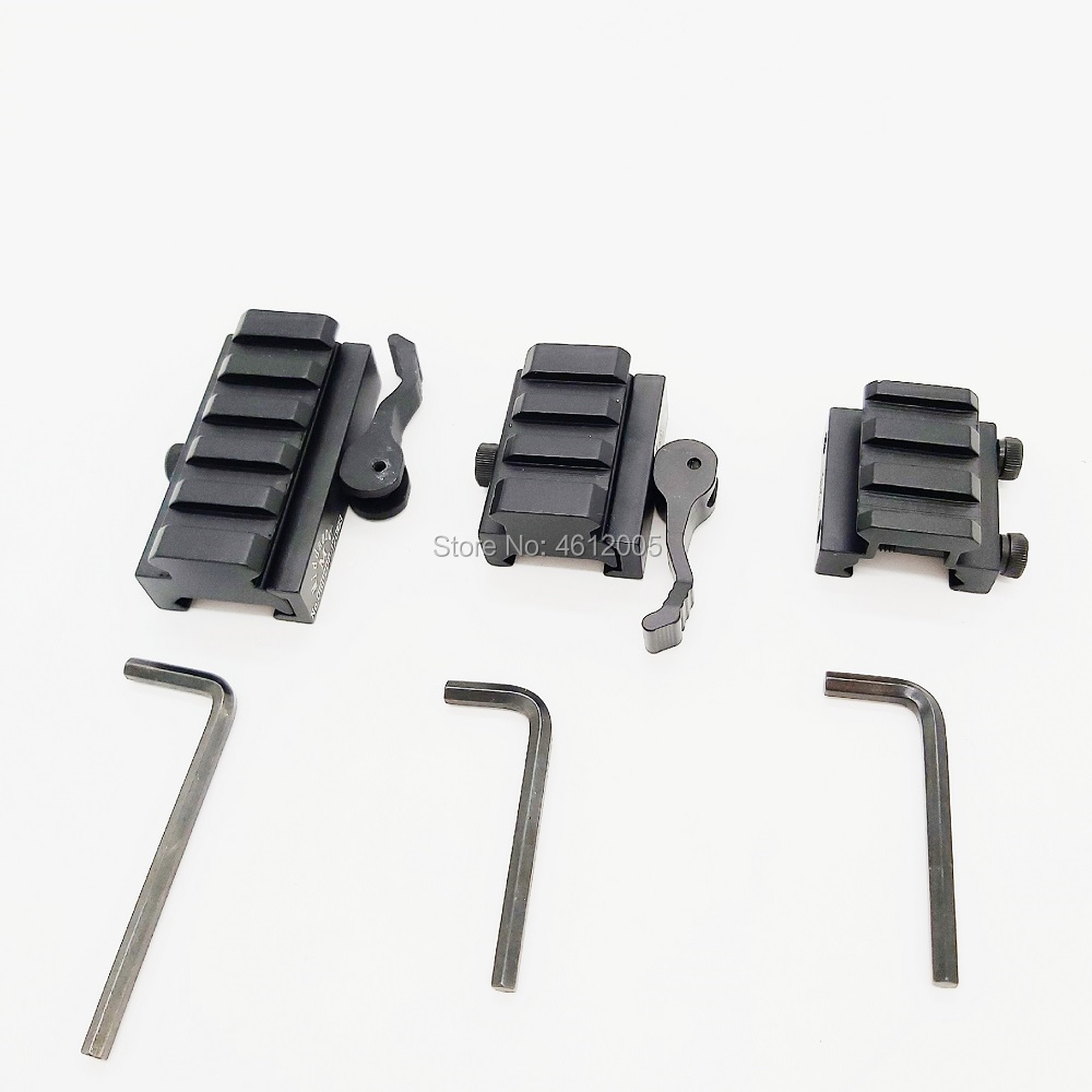 3 slots 5 slots Low Profile Picatinny Riser Mount with Quick Release