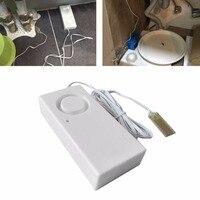 Alarme de vazamento de água  detector de 130db  sensor de vazamento de água  detector de alerta de inundação  alarme de sobrefluxo  sistema de segurança doméstica