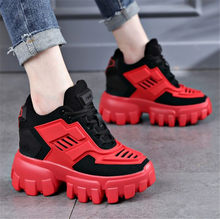 Women Sneakers Chunky Breathable Platform Wedge High Heel Tennis Trainers Punk Goth Oxfords Ankle Boots Creepers Mesh Casual