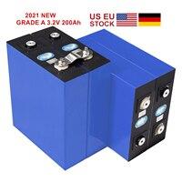 Grado A 4 pezzi 2021 nuova batteria 3.2V 200Ah Lifepo4 con codice QR LFP litio solare 12V 24V 202ah celle non 280Ah EV Marine RV Golf