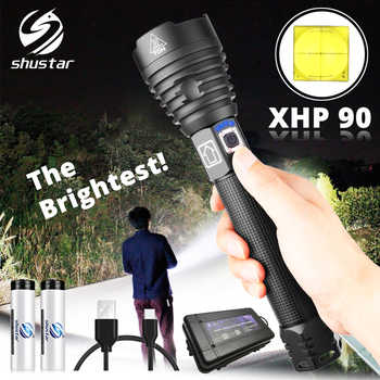 The brightest XHP90 LED Flashlight Tactical waterproof Torch 3 Lighting modes Zoomable Hunting camping lamps By 18650 or 26650 - DISCOUNT ITEM  40% OFF All Category