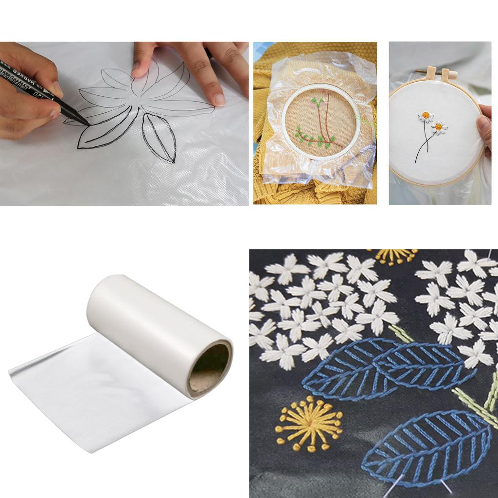 1yd Tear Away Water Soluble Stabilizer Topping Paper Embroidery Accessory