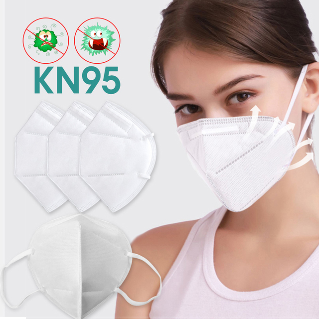 Disposable masks, KN95 masks, dust masks, safety masks, 95% filtered, used for protection against flu from dust particles 2
