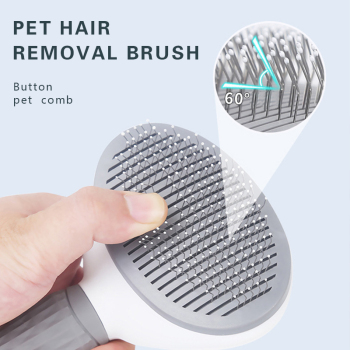 Dog Hair Removal Comb Grooming Brush Stainless Steel Cats Combs   2