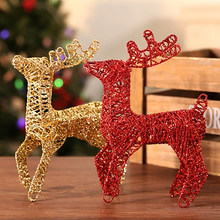 Iron Christmas Deer Decoration Reindeer Red Angel Ornaments Christmas Marry Home Decor Village Noel Addobbi Natalizi Natal 776N(China)