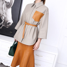 Sheepskin Jacket Leather Coat Spring Casual And Autumn Shirt Loose Factory New-Style