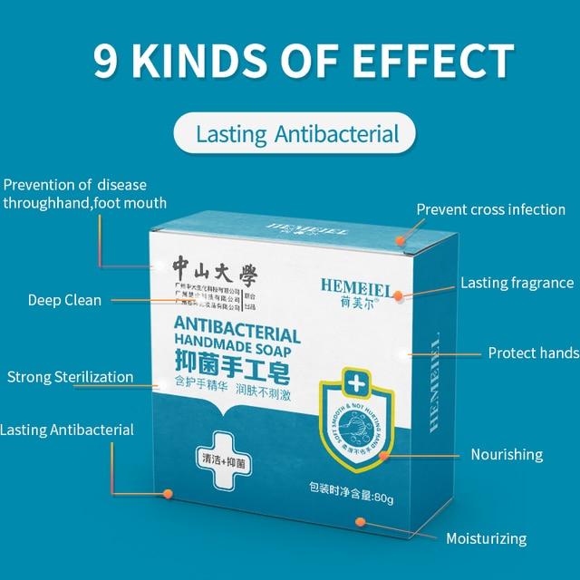 HEMEIEL Disinfection Hand Soap Anti Virus Lemon Essence Pimple Acne Treatment Face Soap Handmade Body Wash Sterilize Oil Control 3