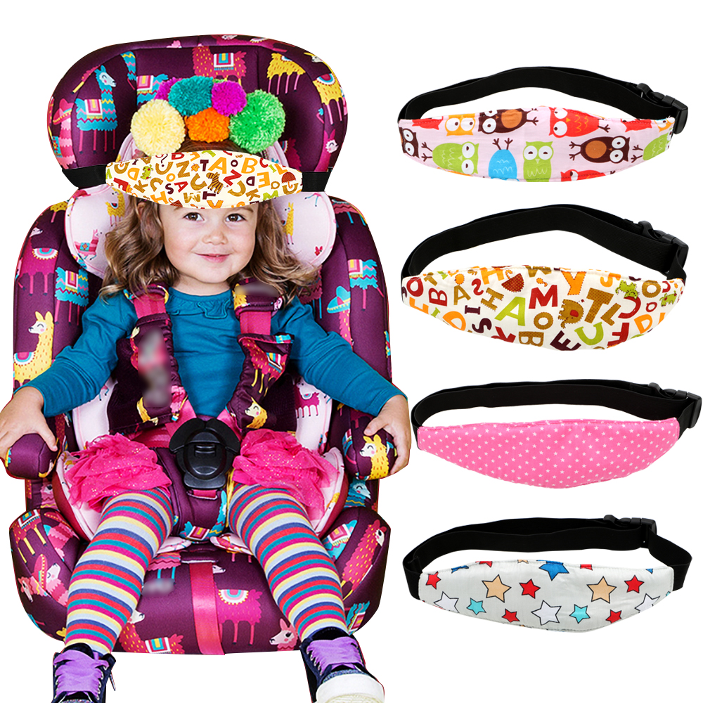 LEEPEE Car Safety Children Fixing Band Car Seat Sleep Nap Kid Sleeping Head Support Belt Positioner Baby Sroller Holder Belt image