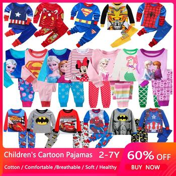 Hot Children Spider Sets Cars Boys Elsa Anna Cartoon Print Nightwear Girls Family Pajamas Kids Clothes Sleepwear Baby Pyjamas