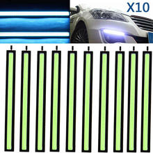 10pcs Ice Blue COB LED Daytime Running Lights Lamps Car Auto DRL Fog Driving Lamp DC 10V-12V 17cm Light Accessories
