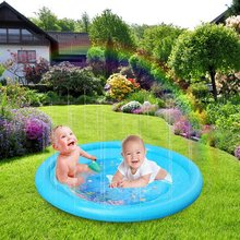 Kids Inflatable Splash Water Play Mat Sprinkle Pad toy for Children Outdoor Swimming Beach Lawn Sprinkler Game
