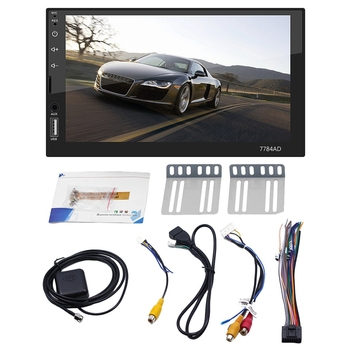 New 2 Din 7 Inch Touch-Screen Car Radio Android 1G+16G Stereo MP5 Player FM GPS Bluetooth WiFi Multimedia Player 7784AD