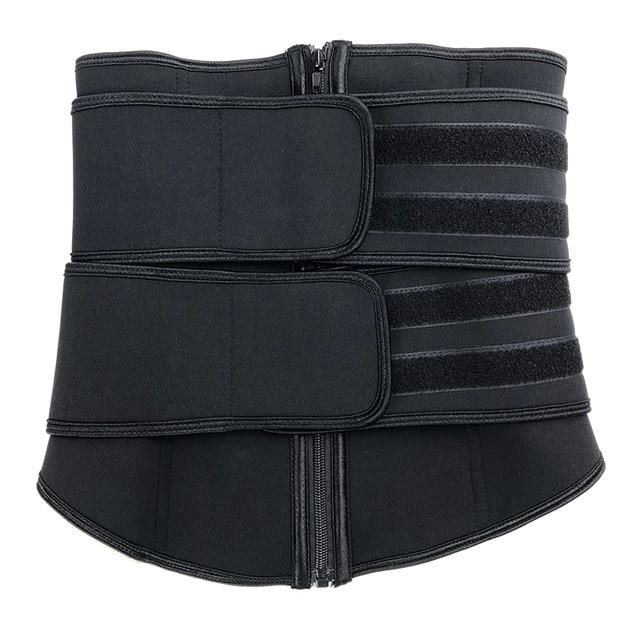 Men Upgraded Version Sweat Belt Waist Trainer Cincher Trimmer Neoprene Hourglass Slimming Body Shaper Band Workout Back Support 5