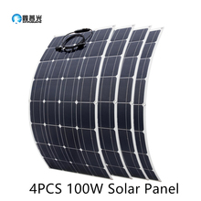 2Pcs 4Pcs 10Pcs 100 W Monocrystalline SOLAR CELL ยืดหยุ่นสำหรับรถยนต์/Yacht/Steamship 12V 24 โวลต์ 100 วัตต์แบตเตอรี่