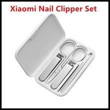 Xiaomi Mijia Rvs Nagelknipper Set (2019 Versie Optioneel) Trimmer Pedicure Care Clippers Earpick Nagelvijl