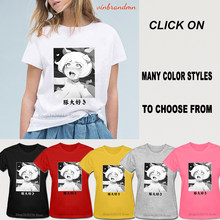 Ladies Vogue T Shirts Ahegao Design White Female T-shirts Hentai Anime Waifu Tee Tops Cotton Casual Kawaii Tee Shirts Aesthetic(China)