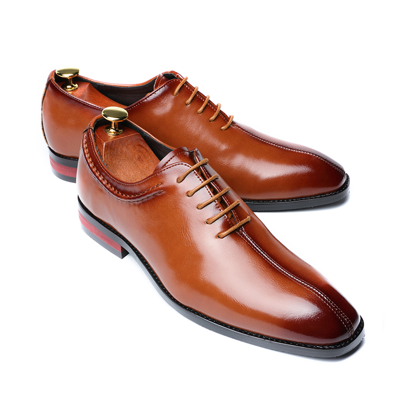 Mens Business Dress Formal Oxfords Leather Shoes Flat Lace Up Casual Loafers
