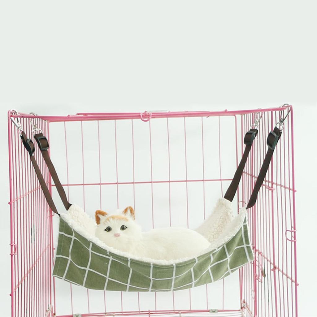 Hamster Cage Ferret 2019 TOP Hanging Pet Hammock Removable Cotton Fleece Bed Animal Pets Swinging Hamster Cage 8.20