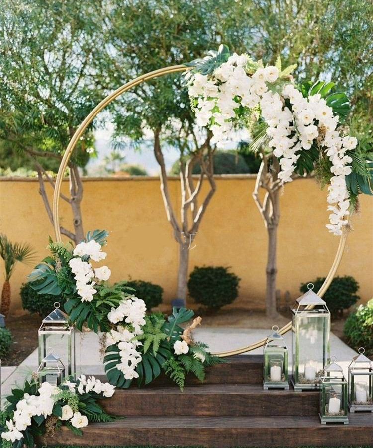 2 5m big Circle Wedding Birthday Arch Decoration Background Wrought Props Single Arch Flower Outdoor Lawn Screen Road Guide