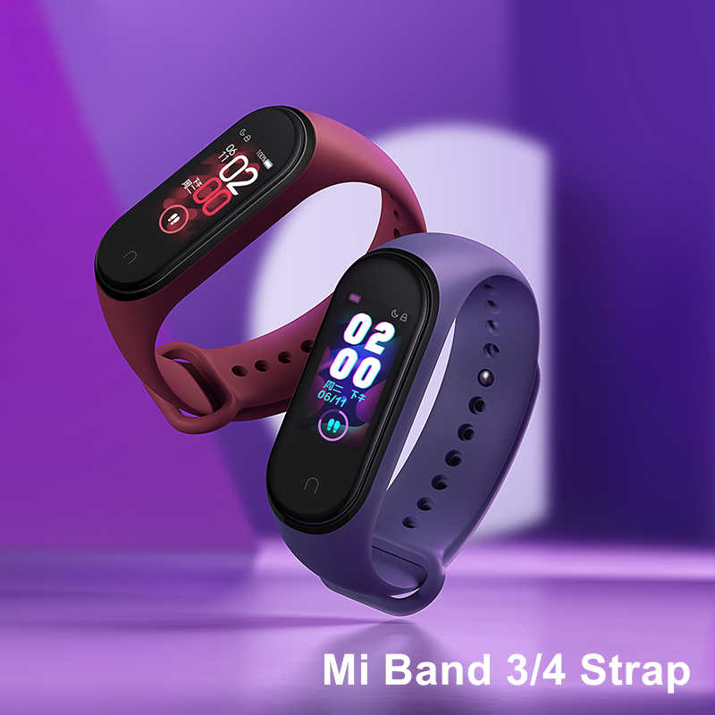 mi band 4 strap for xiaomi mi band 2 3 4 bracelet silicone wrist sport straps on xiomi mi band4 band3 band2 strap accessories