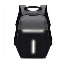 Men's Business Laptop Backpack Anti-splash Anti-theft USB Charging  Large Capacity Reflective Travel Backpack Women