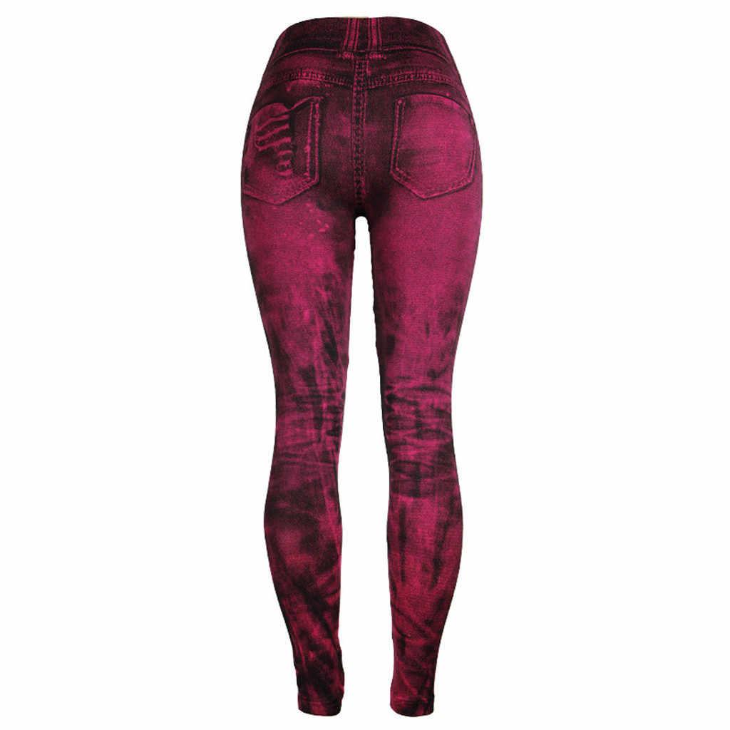 ユニークなスタイルのファッション美しいとエレガントな女性のジーンズボトムパンツ着色スーパー爆弾スリム 9 分ホットピンクパンツ w30416