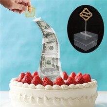 Новинка, креативный торт ATM, торт-сюрприз, Топпер для торта на день рождения, копилка, Забавный торт ATM, подарок на день рождения# LR3