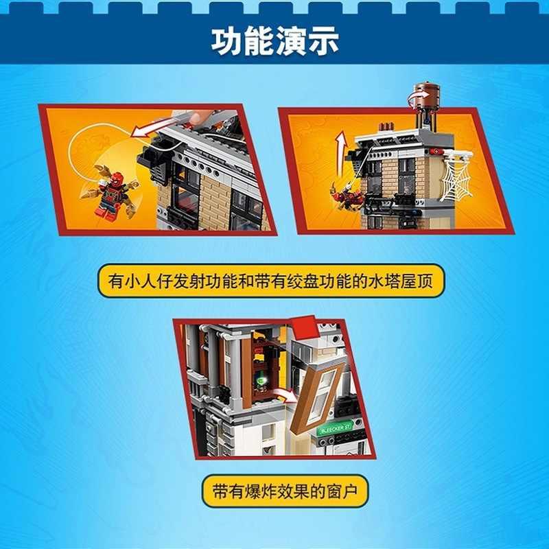 10840 Compatible Legoinglys Marvel Avengers Infinity War Sanctum Sanctorum Showdown Iron Man Spidermans Building Block Toys