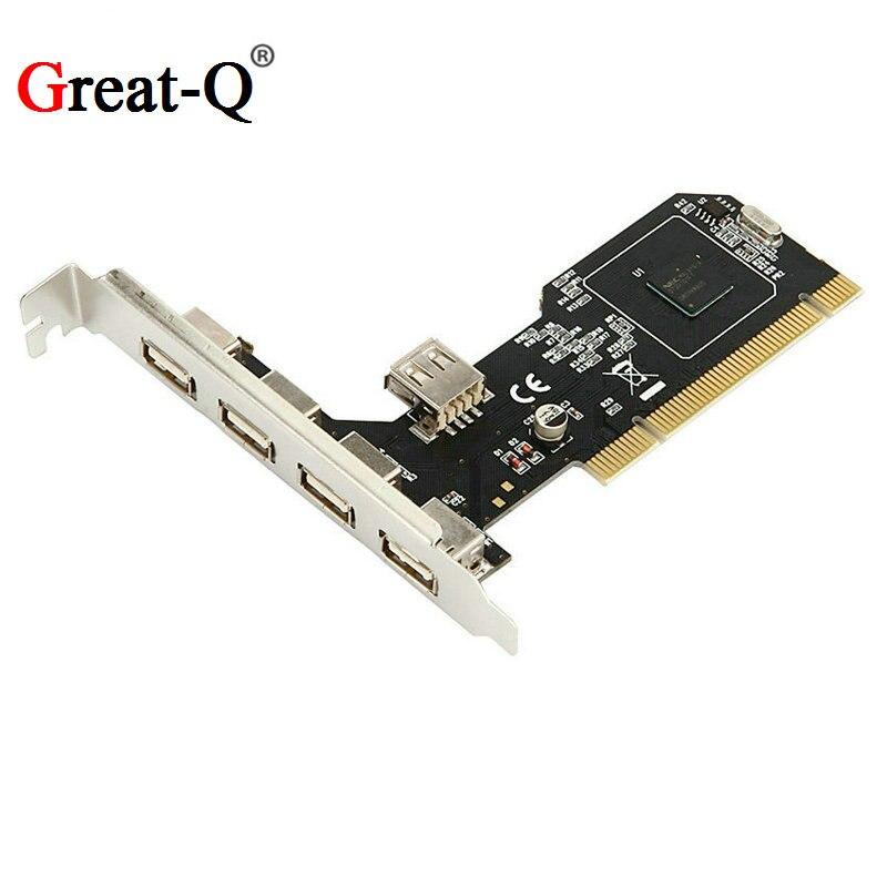 PCI to 5 Port USB 2.0 Card usb hub controller NEC720101 chipset