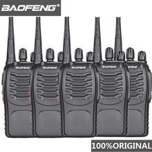 5 adet Baofeng BF 888s Walkie Talkie UHF kullanışlı Talky BF 888s 5W Wolki Tolki 888 CB radyo Comunicador PTT walkie talkie alıcı verici