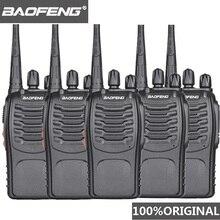 5 stücke Baofeng BF 888s Walkie Talkie UHF Handlichen Talky BF 888s 5W Wolki Tolki 888 CB Radio Comunicador PTT Walkie talkie Transceiver