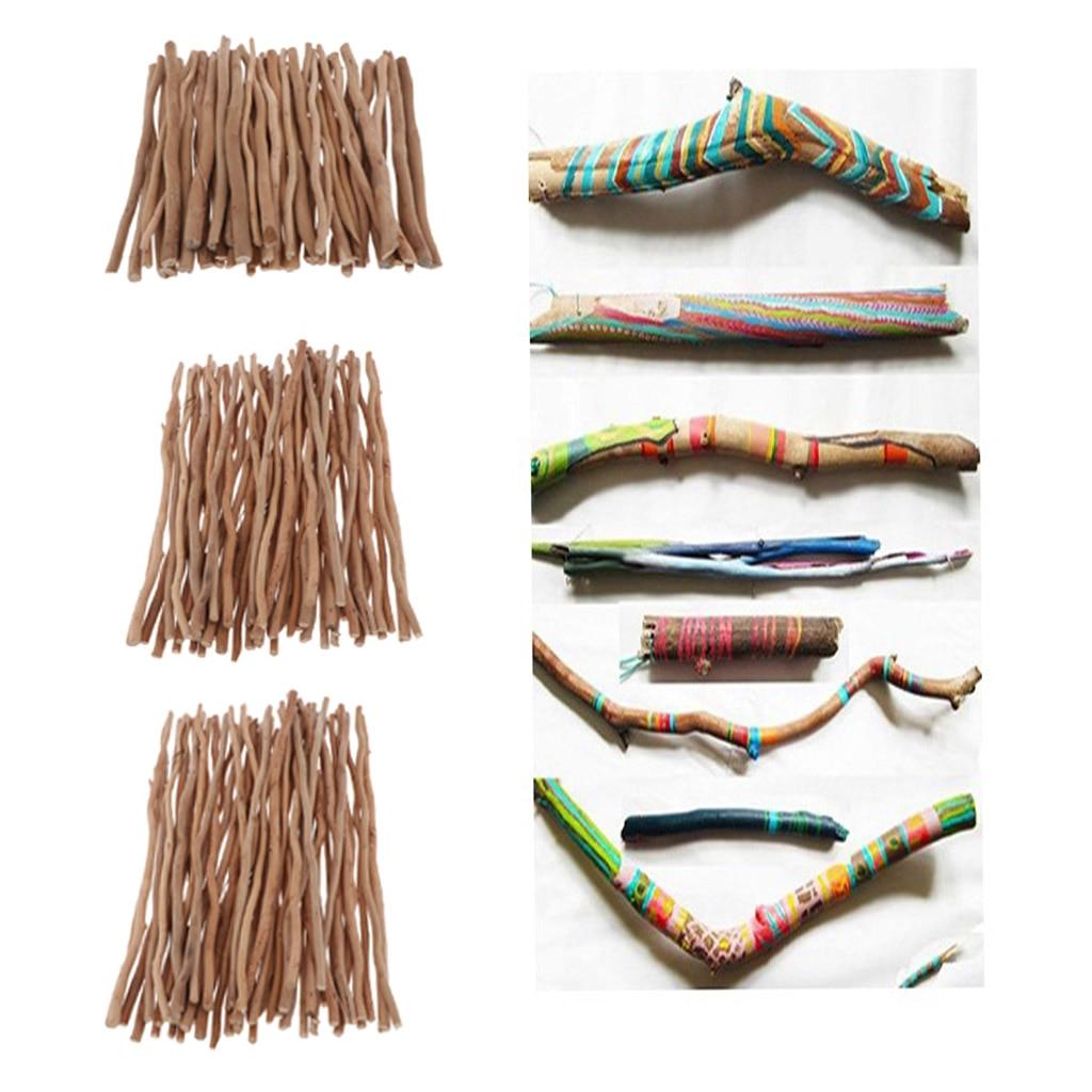 50 pçs madeira natural varas ramo de madeira driftwood decorações rústicas