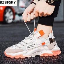BZBFSKY Mix kolorów trampki marka Design moda, patchwork Unisex buty w dużych rozmiarach grube dno Clunky Casual buty