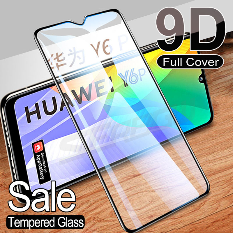 9D Protective Glass For Huawei Y5P Y6P Y7P Y8P Y6S Y7S Y8S Y9S Y5 Lite Y6 Y7 Y9 Prime 2018 2019 Temp