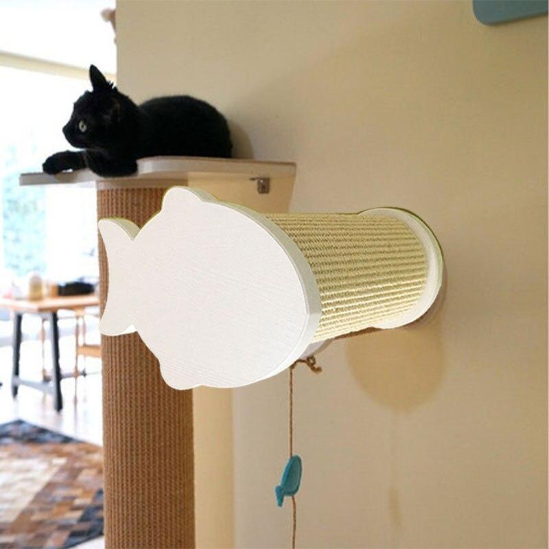 Mur-monté plate-forme sautante arbre à chat chat grimpeur Sisal corde Scratch maison griffoir Post chaton suspendu maison Pet meubles
