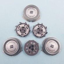 3 pçs de aço inoxidável substituição cabeças lâmina para philips norelco 3000 series 1000 700 sh30/52 original cabeça substituição