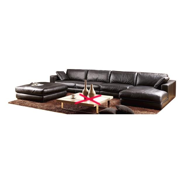 Genuine Leather L Shaped Corner Sofa 1